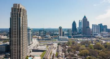 The Atlanta Skyline with the Atlantic Residences in foreground a SWS Project